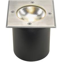 SLV ROCCI Bodeneinbauleuchte, eckig, Edelstahl 316, LED edelstahl