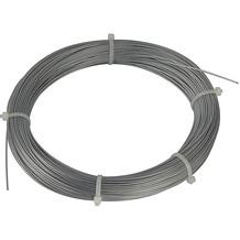 SLV Stahlseil 0,75mm mit PVC-Ummantelung, 100m Ring, verzinkt silber
