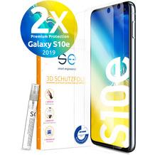 smart engineered [2x] 3D Schutzfolie Samsung Galaxy S10e Transparent (Klar) Front (Display) im SET inkl. Nano-Versiegelung