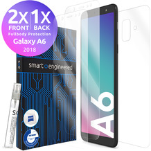 smart engineered 3D Schutzfolien für Samsung Galaxy A6, 2x Premium HD Displayschutzfolien, 1x Folie Rückseite