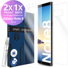 smart engineered 3D Schutzfolien für Samsung Galaxy Note 8, 2x Premium HD Displayschutzfolien, 1x Folie Rückseite [FULLBODY SET]