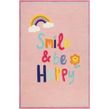 smart kids Kinderteppich Happy me! SM-4328-03 rosa 120x170