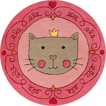 smart kids Kinderteppich Lotti Queen SM-4354-01 rosa 100 rund