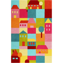 smart kids Kinderteppich Poppy Town SM-4292-02 multicolor 120x170