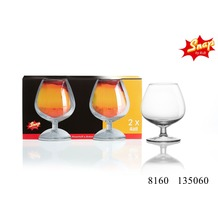Snap by R&B 2er Cognacschwenker Glas rund 25cl klar