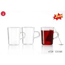 Snap by R&B Teeglas 8x8x10cm konisch klar