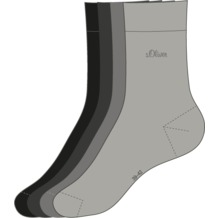 s.Oliver Kids Socken 4 Paar 49 grey mix S20205 27/30
