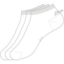 s.Oliver Sneaker 3 Paar 01 white 3 Paar S24001 35/38