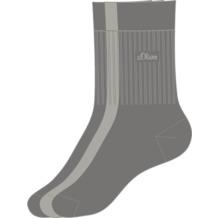 s.Oliver Sport Socken 3 Paar 10 grey S30001 35/38