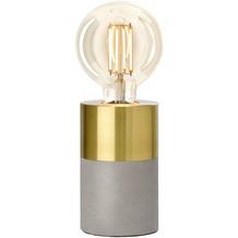 Villeroy & Boch Tischleuchte Athen Beton/Gold D 8cm H 14cm Industriedesign