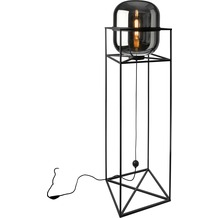 Sompex Stehlampe Balconi Glas smoke H 154cm Industriedesign