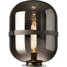 Sompex Tischleuchte Baloni Glas smoke D 34cm, H 45cm