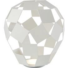 Sompex Tischleuchte Belly LED Metall weiß H 27cm dimmbar