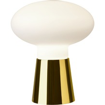 Villeroy & Boch Tischleuchte Bilbao Glas gold/weiß H 24cm D 21cm