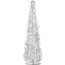 Sompex Stehlampe Curly LED silber H 100cm Weihnachtsbaum