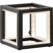 Sompex Tischleuchte Delux LED Schwarz 12x12 cm Leuchtstäbe