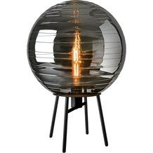 Sompex Tischleuchte Lantaren E27, Glas, schwarz