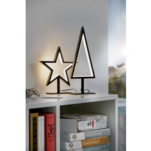 Sompex Tischleuchte Lucy LED, schwarz, H20cm, Stern