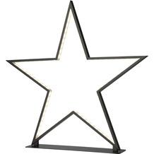Sompex Tischleuchte Lucy LED, schwarz, H50cm, dimmbar, Stern