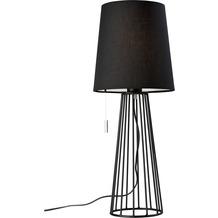 Villeroy & Boch Tischleuchte Mailand E27, schwarz, H59cm