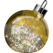 Sompex Dekoleuchte Christbaumkugel Ornament LED Gold D25cm