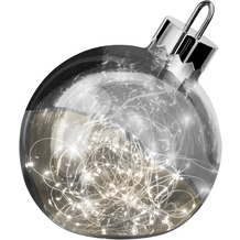 Sompex Dekoleuchte Christbaumkugel Ornament LED Smoke D25cm