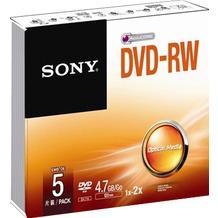 Sony DVD-RW 4.7GB/120Min/2x Slimcase (5 Disc)
