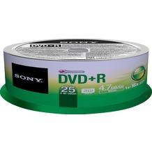 Sony DVD+R 4.7GB/120Min/16x Cakebox (25 Disc)