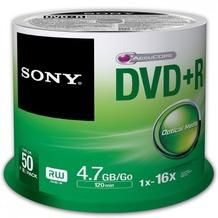 Sony DVD+R 4.7GB 16x 50er Cakebox