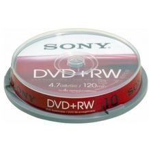 Sony DVD+RW 4.7GB 4x 10er Cakebox