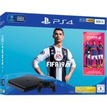 Sony PlayStation 4 PS4 slim Konsole 500GB jet black inkl. FIFA19