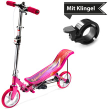 Space Scooter X580 pink/rosa + Tretroller & Scooterklingel