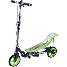 Space Scooter X590 Deluxe grün - bis 120 kg für Kinder und Erwachsene