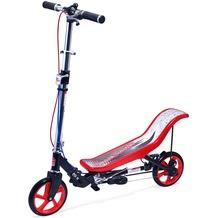 Space Scooter X590 Deluxe rot - bis 120 kg für Kinder und Erwachsene