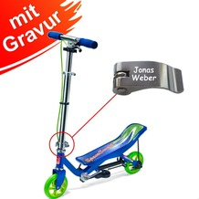 Space Scooter X 360 blau Junior MIT GRAVUR (z.B. Namen)