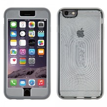 Speck HardCase MightyShell + Faceplate für iPhone 6 Plus, transparent/grau