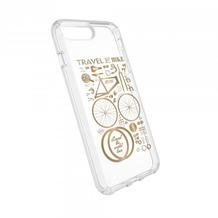 Speck HardCase Speck PRESIDIO iPhone (8) Plus Clear/Print - CityBike Metallic Gold Yellow/Clear