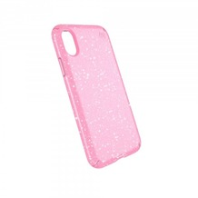 Speck HardCase Speck PRESIDIO iPhone (X) Clear/Glitter - Bella Pink With Gold Glitter/Bella Pink