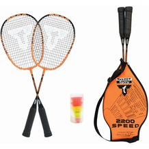 Speedbadminton Badminton Set Speed 2200 im 3/4 Bag black/orange