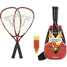 Speedbadminton Set SPEED 5000 im Slingbag black/red