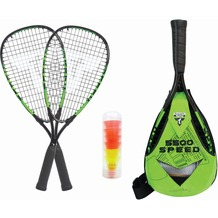 Speedbadminton Set Speed 5500 im Slingbag black/green