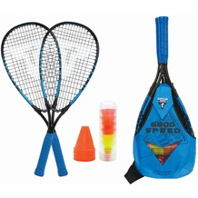 Speedbadminton Set Speed 6600 im Slingbag black/blue