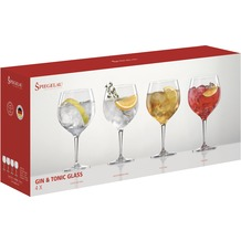 Spiegelau Gift Set Gin & Tonic Glass 4er Set