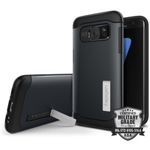 Spigen Slim Armor for Galaxy S7 Edge metal slate