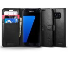 Spigen Wallet S for Galaxy S7 schwarz