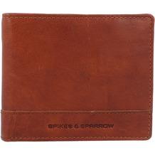 Spikes & Sparrow Geldbörse RFID Leder 11 cm brandy