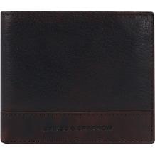Spikes & Sparrow Geldbörse RFID Leder 11 cm darkbrown