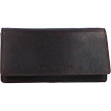 Spikes & Sparrow Geldbörse RFID Leder 17 cm darkbrown
