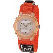 Sportline Kinderuhr mit Textilband - orange 440005800001