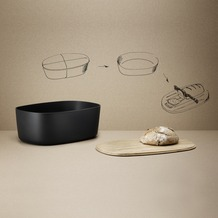 stelton RIG-TIG Brotkasten BOX-IT schwarz